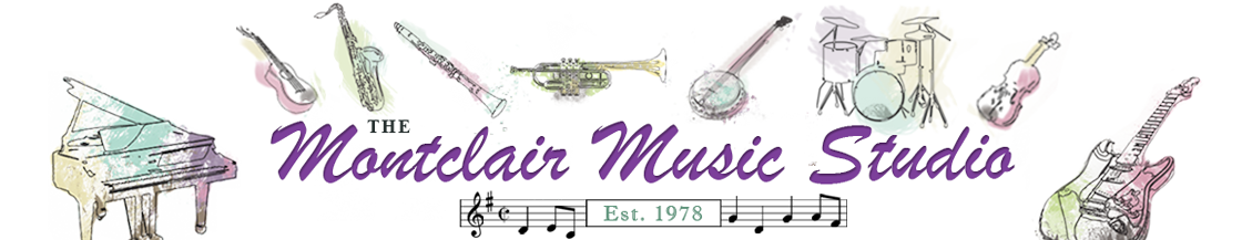 Montclair Music Studio.  Your neighborhood music store.  Montclair, New Jersey, 07042